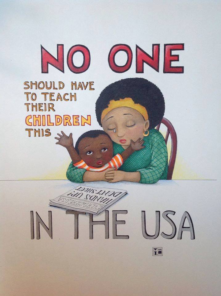 """No one should have to teach their children this in the U.S.A."" Mary Engelbreit"