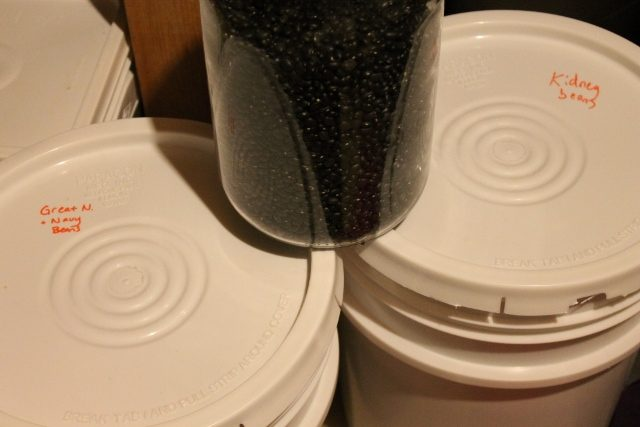 Plastic buckets for bulk food storage