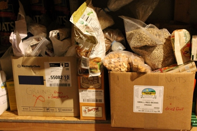 Bad example of bulk food storage