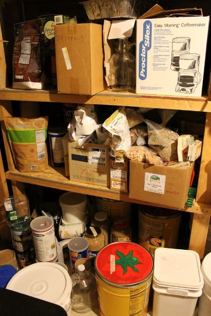 Basement bulk food storage