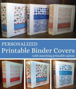 Free personalized printable binder covers