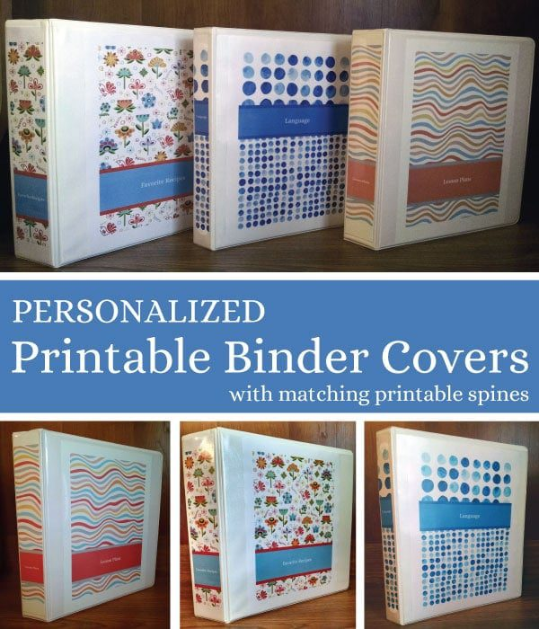 Personalized Printable Binder Covers