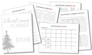The 2014 Christmas planners are HERE! {101 Days of Christmas}