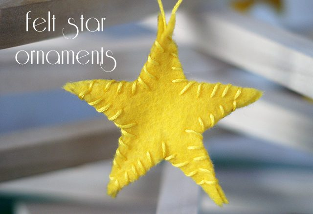 Easy Sew Felt Ornaments