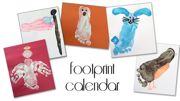 Footprint Calendar for Christmas Gifts