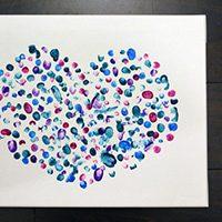 Fingerprint Heart Canvas