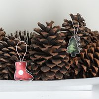 Tiny Cookie Cutter Ornaments