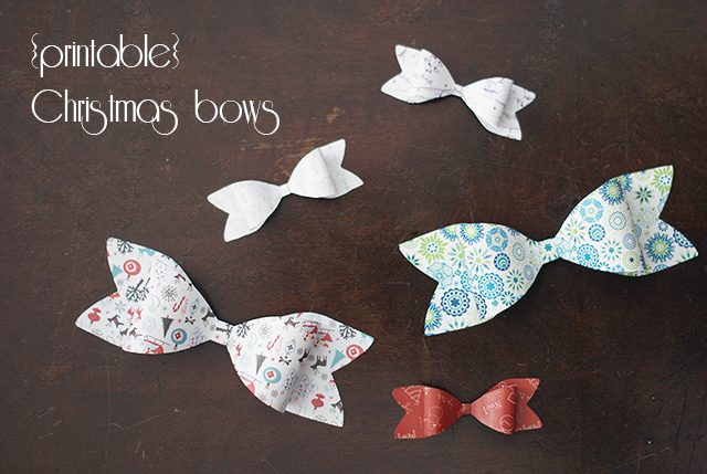 Printable Christmas Bows