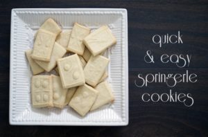 Quick & easy springerle cookies {101 Days of Christmas}