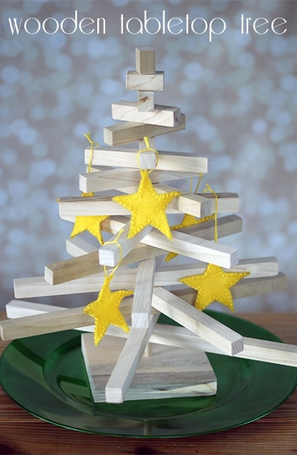 Wooden Tabletop Display Tree