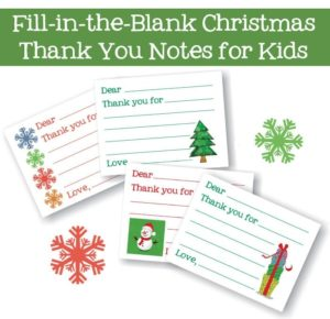 Fill-in-the-blank thank you cards {101 Days of Christmas}