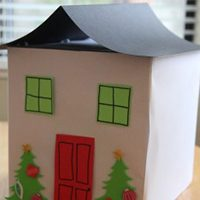 Cardboard Box Gingerbread House