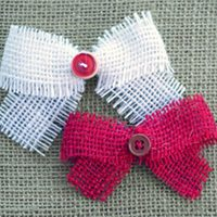 Burlap & Button Bows