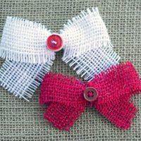 Burlap & Button Bows