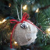 Burlap-Wrapped Ornament