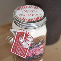 Candy Cane Cookies in a Jar