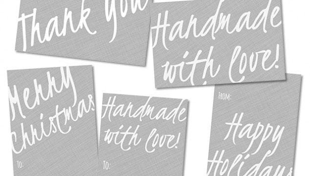 Handwritten printable gift tags {101 Days of Christmas}