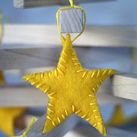East Sew Felt Star Ornaments