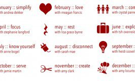 Monthly themes for the LIVE course at Life Your Way