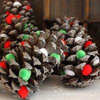 PomPom Pine Cones