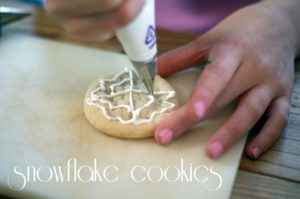 Design-your-own-snowflake cookies for kids {101 Days of Christmas}