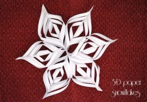 3-D paper snowflakes {101 Days of Christmas}