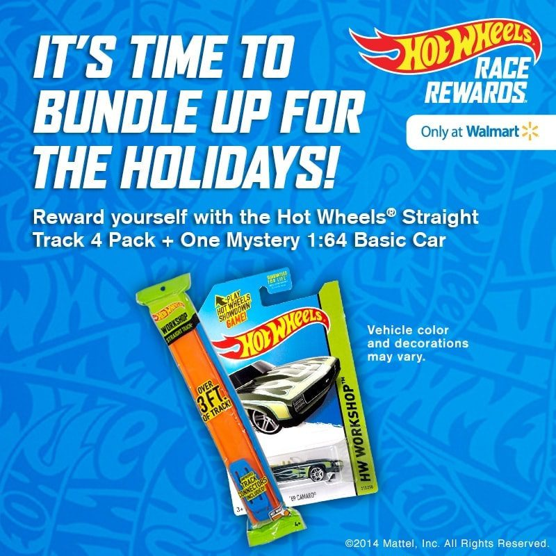 Earn instant rewards from HotWheelsRaceRewards.com and Walmart