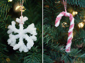 Borax crystal ornaments {101 Days of Christmas}