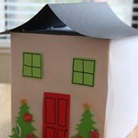 Cardboard Box Gingerbread House