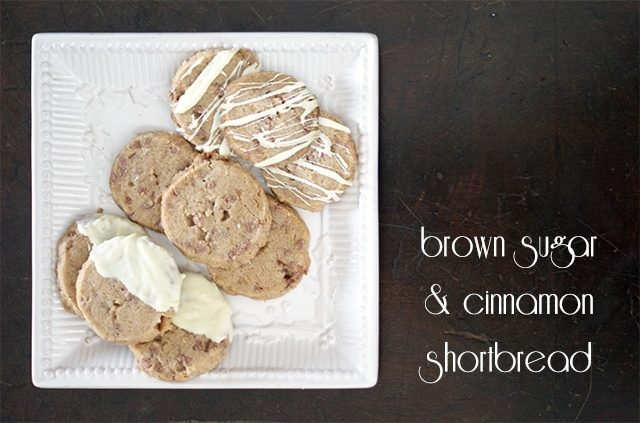 Brown sugar & cinnamon shortbread {101 Days of Christmas}