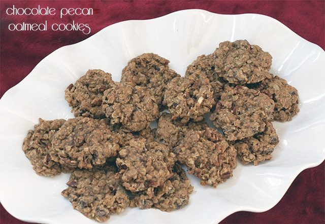 Chocolate chunk & toasted pecan oatmeal cookies