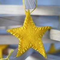 Felt Star Ornaments