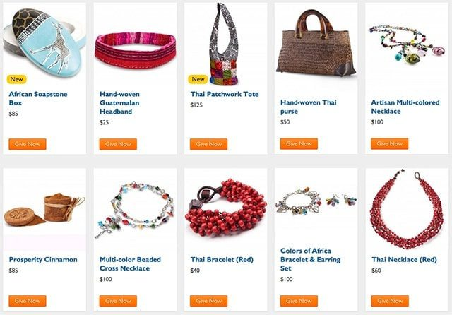 Handcrafted Gifts from the World Vision Gift Catalog