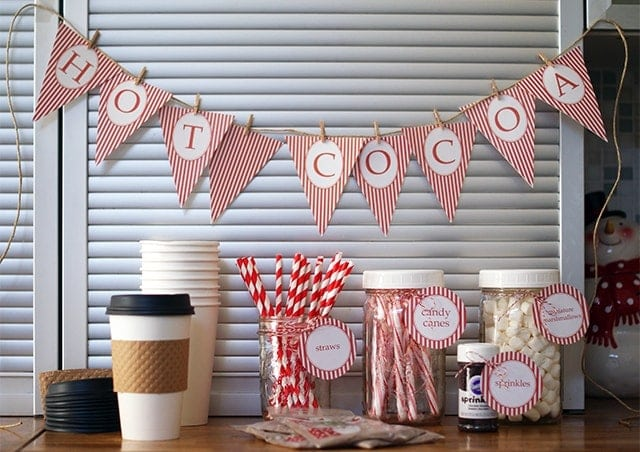 Hot cocoa stand for charity {101 Days of Christmas}