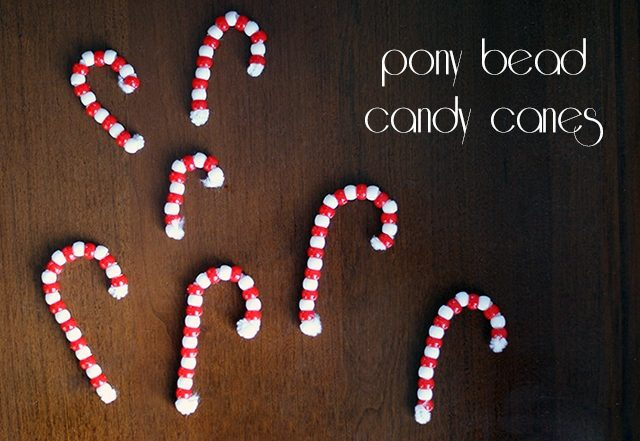 Pony Bead Candy Canes
