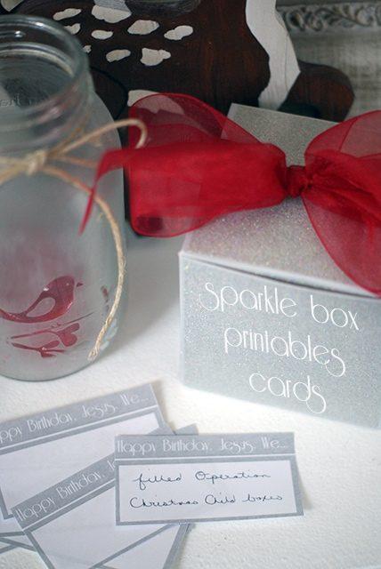 Sparkle Box Printable Cards