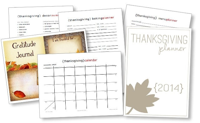 Free 2014 Thanksgiving Planner