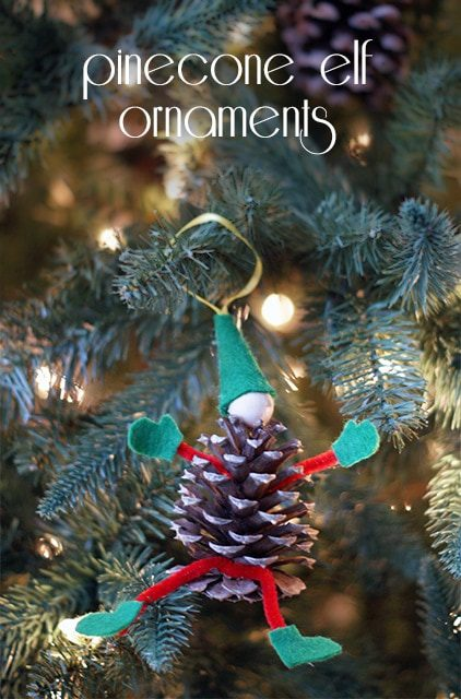 Pinecone Elf Ornaments