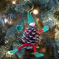 Elf Pinecone Ornament