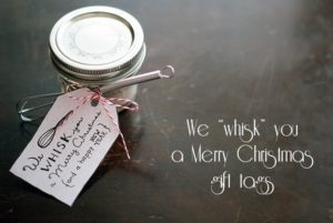 "We ""whisk"" you a Merry Christmas tags {101 Days of Christmas}"