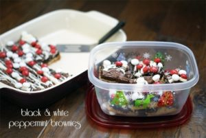 Black & white peppermint layer brownies {101 Days of Christmas}