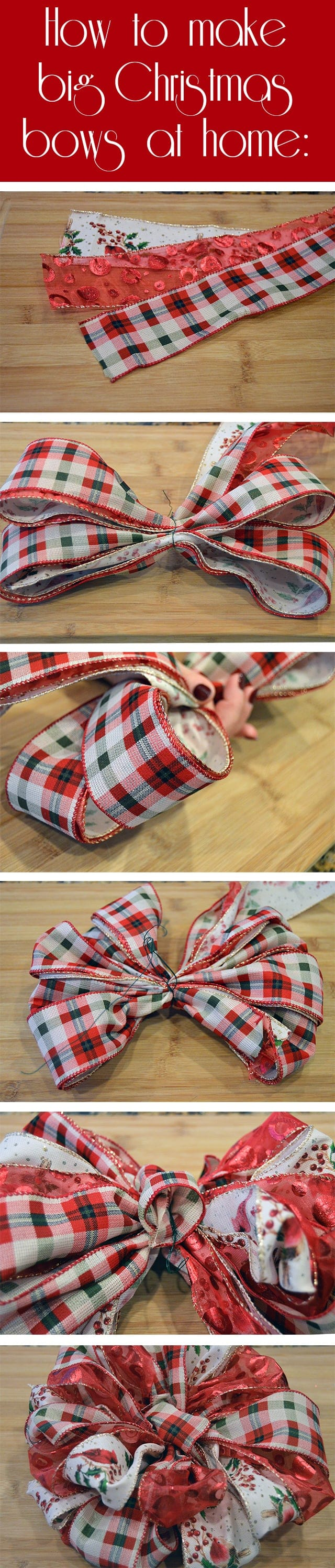 How to make big handmade Christmas bows