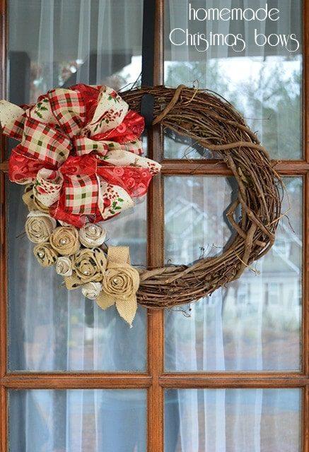 Handmade Christmas bows {101 Days of Christmas}