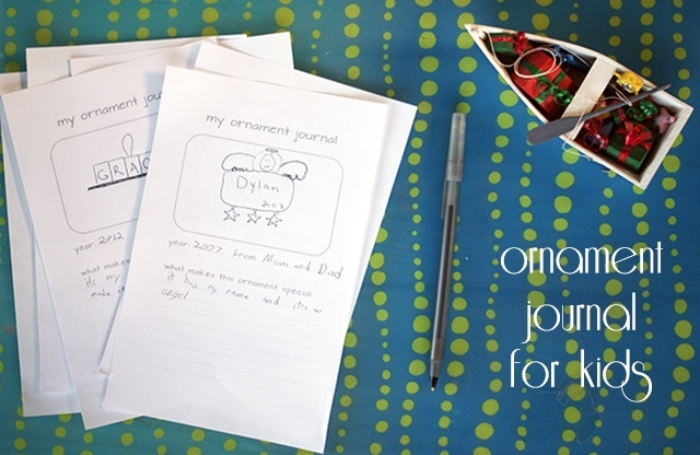 Ornament Journal for Kids