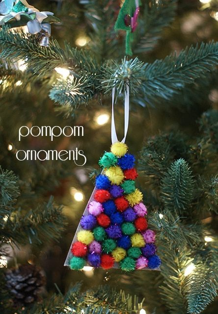 An easy pompom ornament craft for little ones