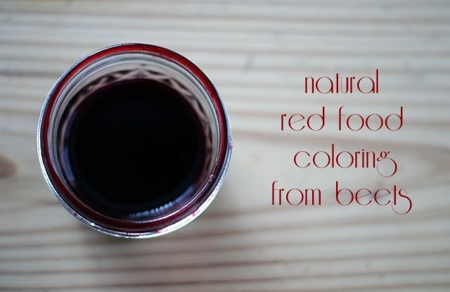 Natural red food coloring from beets {101 Days of Christmas}