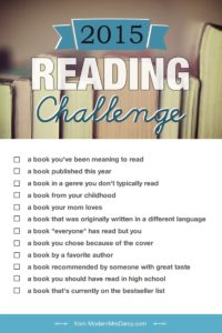 What I'm reading for the Modern Mrs. Darcy 2015 reading challenge