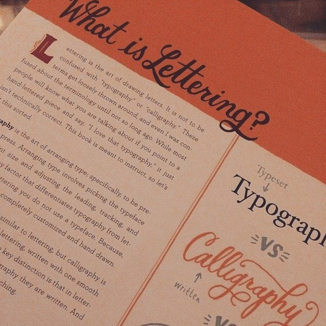 Hand lettering books and tools