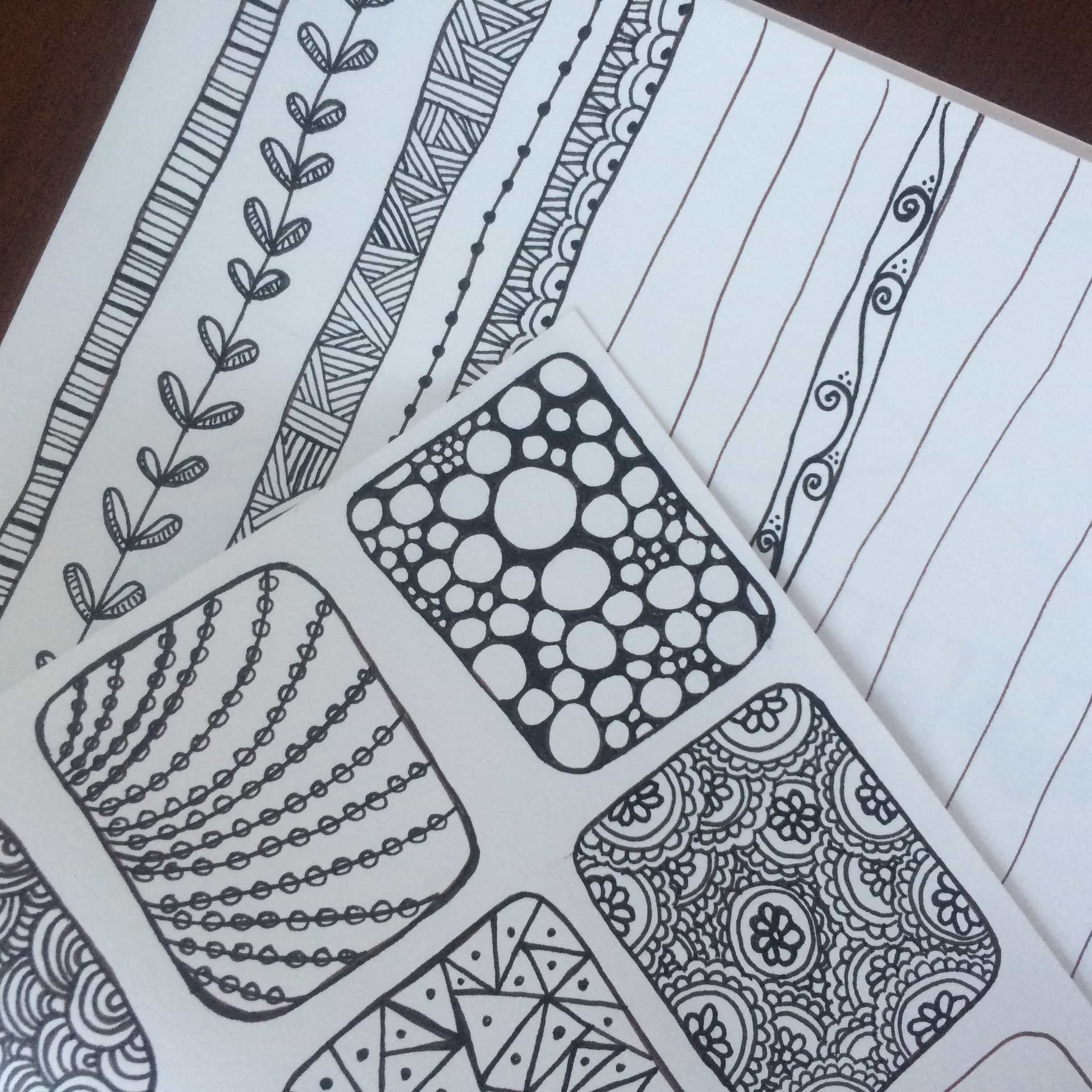 Collect patterns and borders to use in your doodles