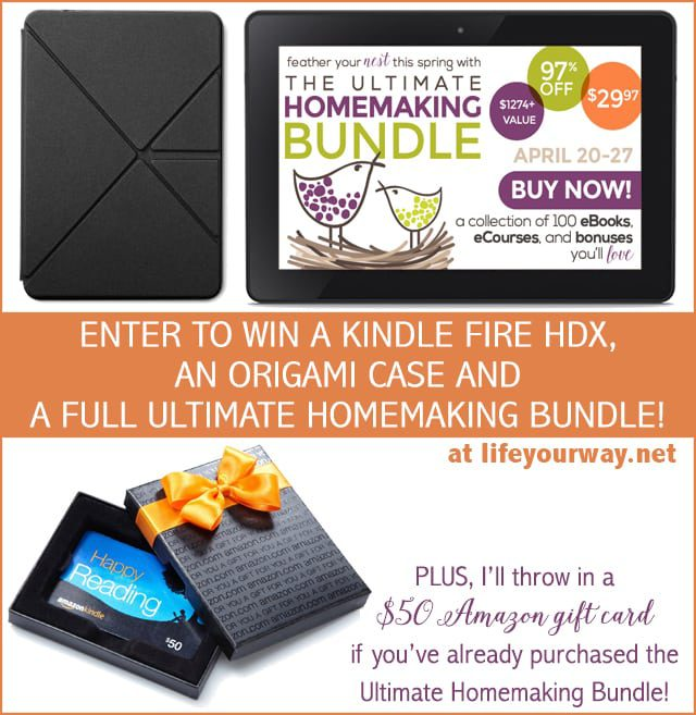Enter to Win a Kindle Fire HDX Prize Package